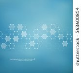abstract molecule background ... | Shutterstock .eps vector #563600854