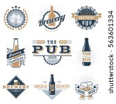 vintage craft beer  brewery... | Shutterstock .eps vector #563601334