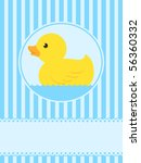 Cute Rubber Duck Greeting Card...