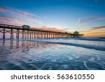 waves in the atlantic ocean and ... | Shutterstock . vector #563610550