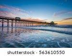 waves in the atlantic ocean and ... | Shutterstock . vector #563610550