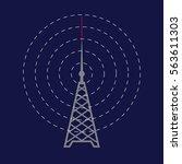 radio tower icon. radio day... | Shutterstock .eps vector #563611303