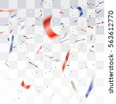 blurred white red and blue... | Shutterstock .eps vector #563612770