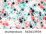 seamless chaotic pattern of... | Shutterstock .eps vector #563613934