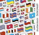 set of world flags pattern.... | Shutterstock .eps vector #563614669