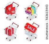 food basket discount or... | Shutterstock . vector #563615443