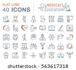 set vector line icons  sign and ... | Shutterstock .eps vector #563617318