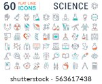 set vector line icons  sign and ... | Shutterstock .eps vector #563617438