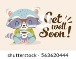 vector get well soon... | Shutterstock .eps vector #563620444