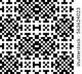 vector seamless pattern.... | Shutterstock .eps vector #563624023