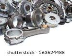 group automobile engine parts... | Shutterstock . vector #563624488