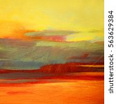 abstract landscape oil painting ...   Shutterstock . vector #563629384