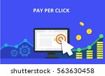 pay per click internet... | Shutterstock .eps vector #563630458