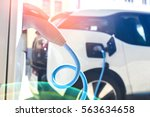 power supply for electric car... | Shutterstock . vector #563634658