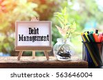 dept management   business... | Shutterstock . vector #563646004