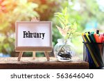 february   business concept... | Shutterstock . vector #563646040