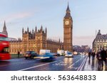 house of parliament in early... | Shutterstock . vector #563648833