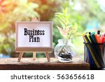 business plan   business... | Shutterstock . vector #563656618