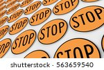 ordered grid of stop signs....   Shutterstock . vector #563659540