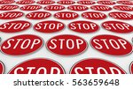 ordered grid of stop signs....   Shutterstock . vector #563659648