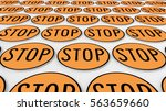 ordered grid of stop signs....   Shutterstock . vector #563659660