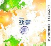 india republic day celebration. ... | Shutterstock .eps vector #563662744