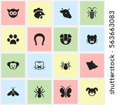 set of 16 editable zoo icons....