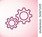 settings gears  cogs  flat icon | Shutterstock .eps vector #563671429