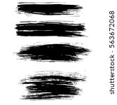 ink vector brush strokes... | Shutterstock .eps vector #563672068