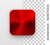 red metal blank app icon ... | Shutterstock .eps vector #563673310