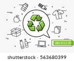 recycle it vector illustration. ... | Shutterstock .eps vector #563680399