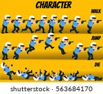 game kits adventure  character... | Shutterstock .eps vector #563684170