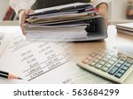 accounting business concept.... | Shutterstock . vector #563684299