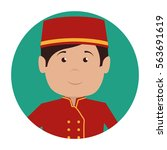 bellboy character hotel service ...   Shutterstock .eps vector #563691619