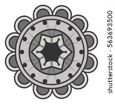 mandala art decorative icon | Shutterstock .eps vector #563693500