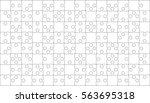 112 white puzzles pieces... | Shutterstock .eps vector #563695318