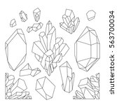 cute graphic crystals drawn in...