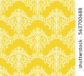 damask seamless floral pattern... | Shutterstock .eps vector #563700688