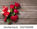 valentines day greeting card.... | Shutterstock . vector #563706088