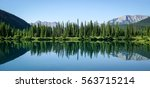 lake at forgetmenot pond on...   Shutterstock . vector #563715214