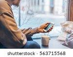 businessman waiting business... | Shutterstock . vector #563715568