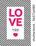 valentine s day background.... | Shutterstock .eps vector #563716480