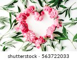 Heart Symbol Made Of Pink...
