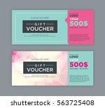 gift voucher template. | Shutterstock .eps vector #563725408