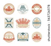 bakery logo vintage isolated... | Shutterstock .eps vector #563726578