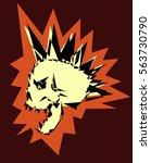 skull punk design | Shutterstock .eps vector #563730790