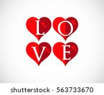 love valentine heart logo text | Shutterstock .eps vector #563733670