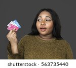 Woman Holding Credit Cards...