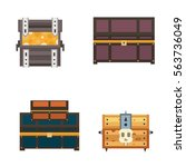 treasure chest vector... | Shutterstock .eps vector #563736049