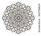 mandala. ethnic decorative... | Shutterstock .eps vector #563736814